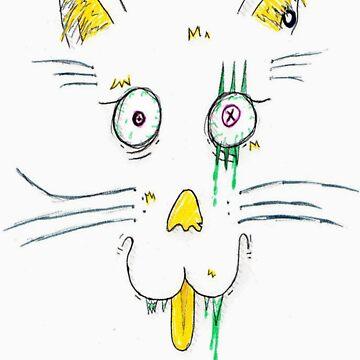 zombie kittey by chr15w00d