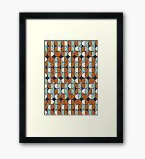 Retro circles Framed Print