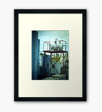 Fuel Container - Tilt shift photo Framed Print