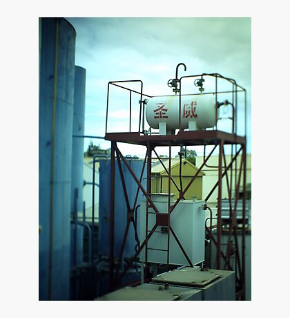 Fuel Container - Tilt shift photo Photographic Print
