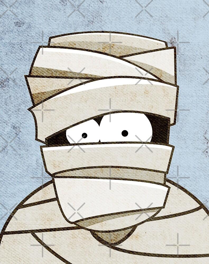 Funny Halloween Mummy by Lisa Marie Robinson