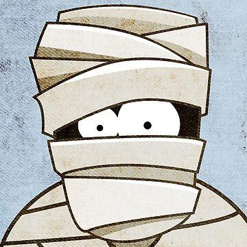 Funny Halloween Mummy by LisaMarieArt