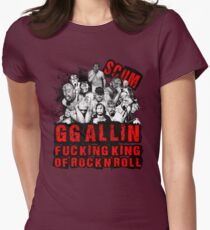 GG Allin king of rock n roll Women's Fitted T-Shirt