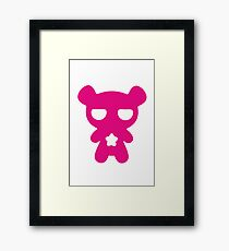 Magenta Lazy Bear (Cute and Pink) Framed Print