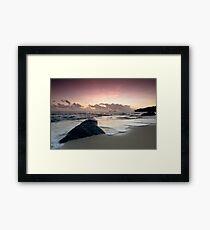 A Relaxing Morning Beach View Framed Print