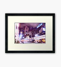 David Beckham on 8th Avenue - New York City Framed Print