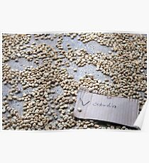 Coffee beans, Colombia Poster