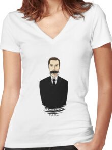 Moriarty Is Real Women's Fitted V-Neck T-Shirt