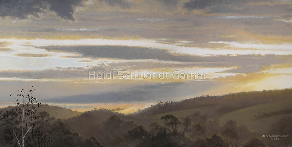 Morning Light (on the Jeeralang hills) by Heidi Schwandt Garner