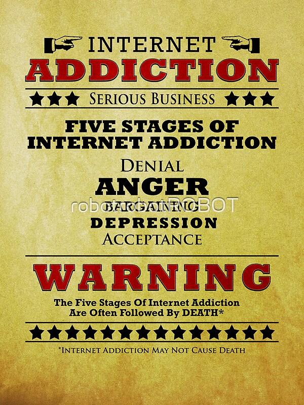 """Internet Addiction"" Posters by robotrobotROBOT   Redbubble"