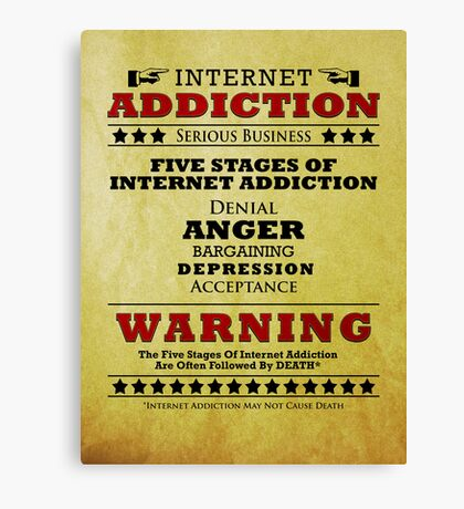 Internet Addiction Canvas Print
