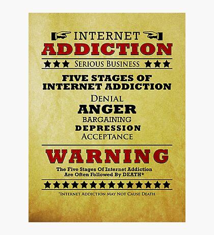 Internet Addiction Photographic Print