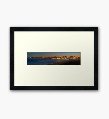 Cronulla Beach Dusk Panorama - Australia Framed Print
