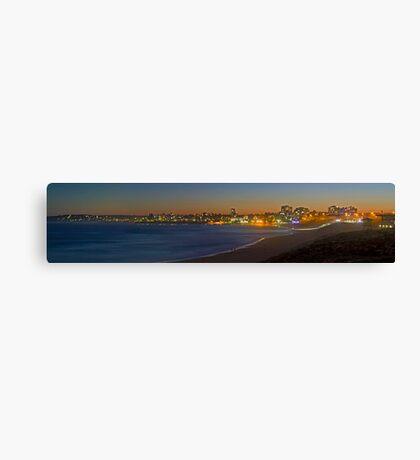 Cronulla Beach Dusk Panorama - Australia Canvas Print
