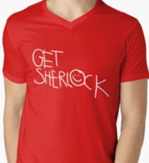 Get Sherlock Men's V-Neck T-Shirt