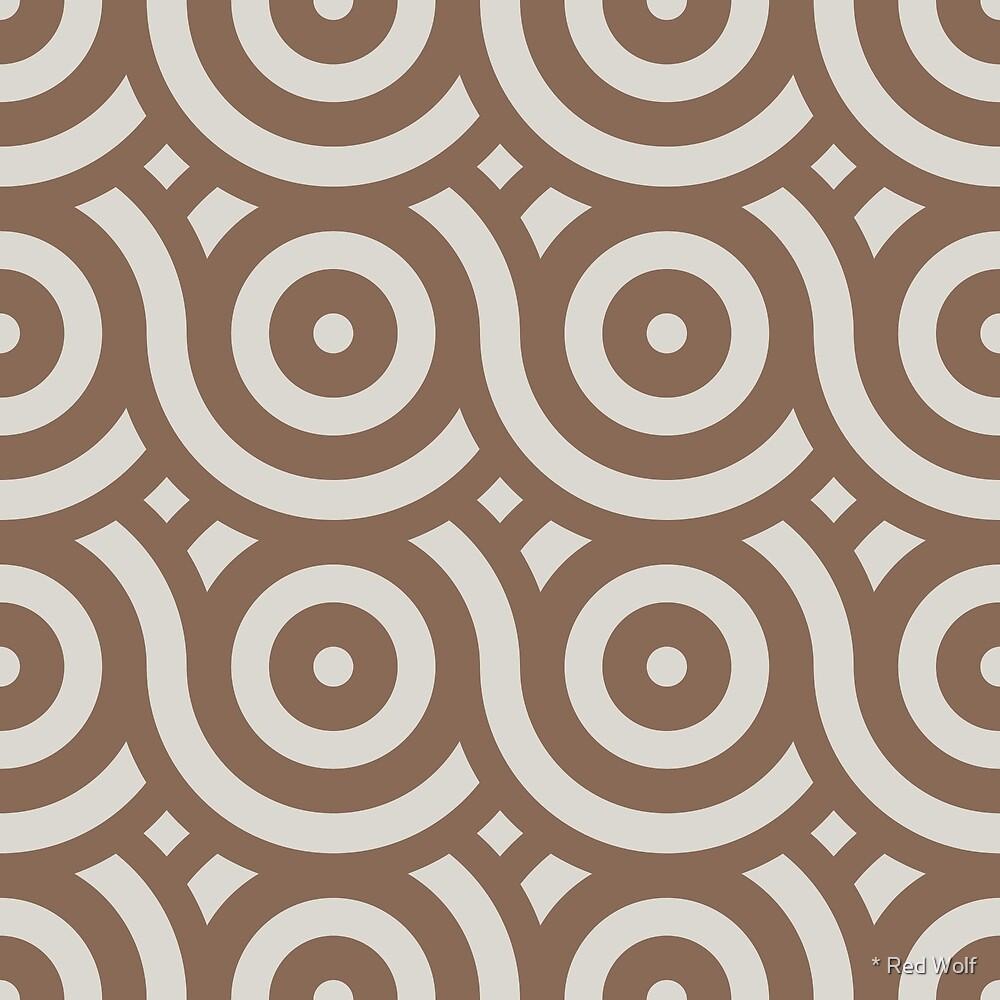 Geometric Pattern: Loop: Brownstone by * Red Wolf