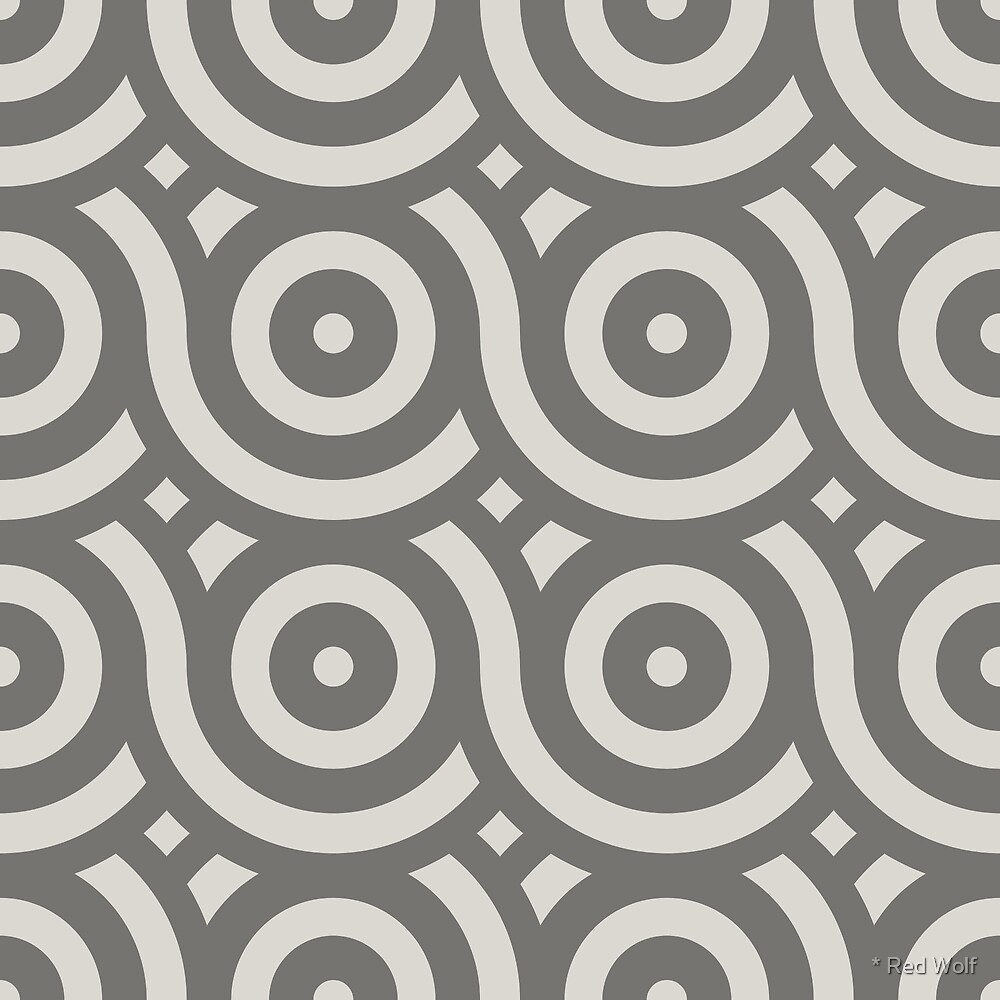 Geometric Pattern: Loop: Granite by * Red Wolf