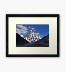 Early Morning Sun on K2, Concordia, Karakorum Framed Print