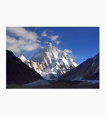 Early Morning Sun on K2, Concordia, Karakorum Photographic Print