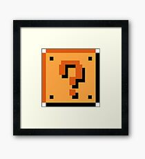Question Brick Framed Print
