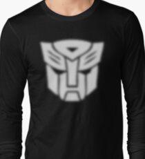 Halftone Autobot Symbol, White Long Sleeve T-Shirt