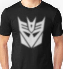 Halftone Decepticon Symbol, White T-Shirt