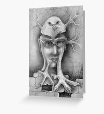 Intellectual Humpty. Greeting Card