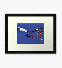 The Doctors - Clean Background Framed Print