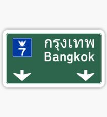 Bangkok Road Sign, Thailand Sticker