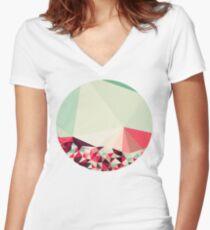 Poppy Field Tris Women's Fitted V-Neck T-Shirt