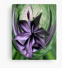 Purple Swoon Metal Print