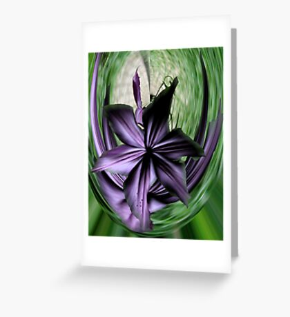 Purple Swoon Greeting Card