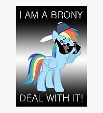 Rainbow Dash Brony Photographic Print