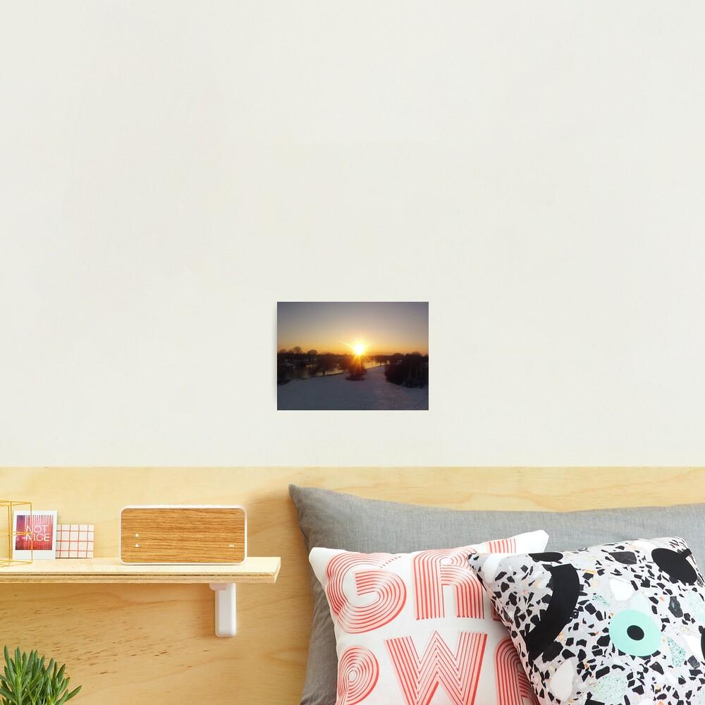 Snow Sunset Photographic Print