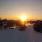 Snow Sunset by Peter Barrett