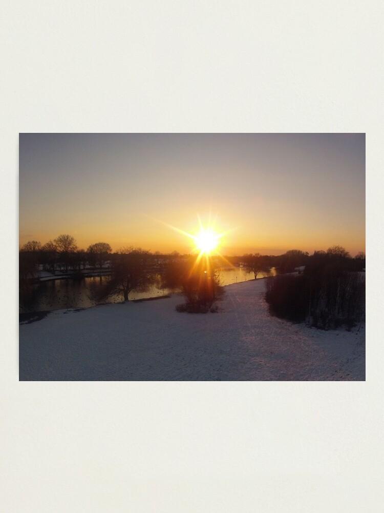 Alternate view of Snow Sunset Photographic Print