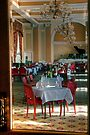 Looking Into the Dining Room at the Peebles Hydro by Christine Smith