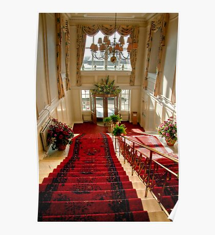 The Main Staircase at the Peebles Hydro Poster