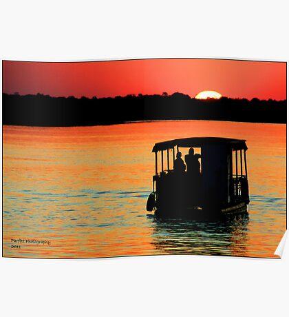 Zambezi Sunset Poster