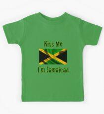 Kiss Me I'm Jamaican Kids Tee