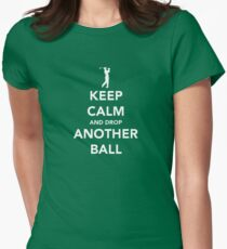 Keep Calm and Golf On Women's Fitted T-Shirt
