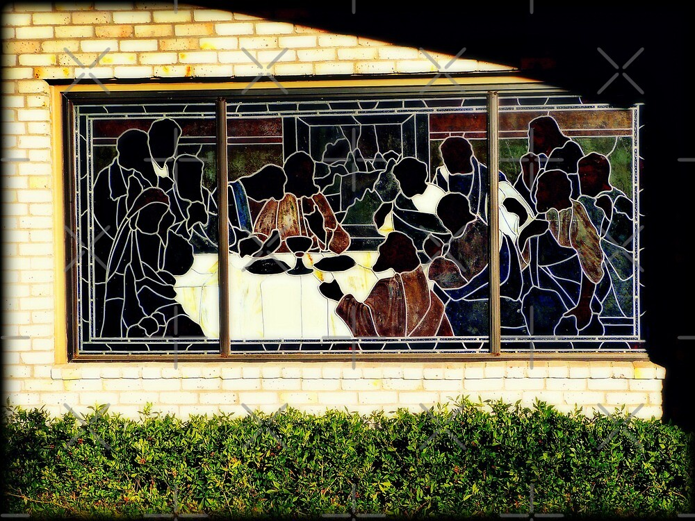 Last Supper stained glass window by Scott Mitchell