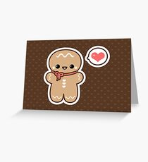 Cute Gingerbread Man Greeting Card