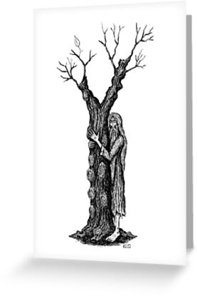 Unity of Souls surreal black and white pen ink drawing by Vitaliy Gonikman