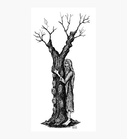 Unity of Souls surreal black and white pen ink drawing Photographic Print