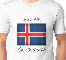 Kiss Me I'm Icelandic Unisex T-Shirt