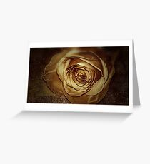 Sepia Toned Antique Rose Greeting Card