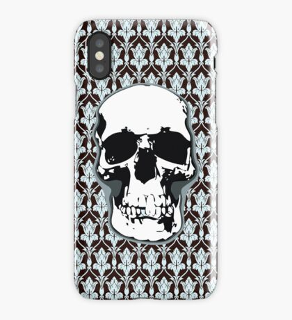221B Skull Print iPhone Case