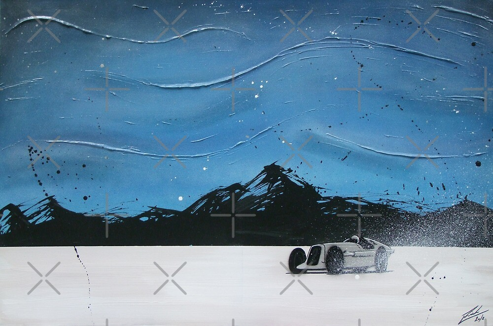 Salt Flats Racer 2 Painting by yeomanscarart