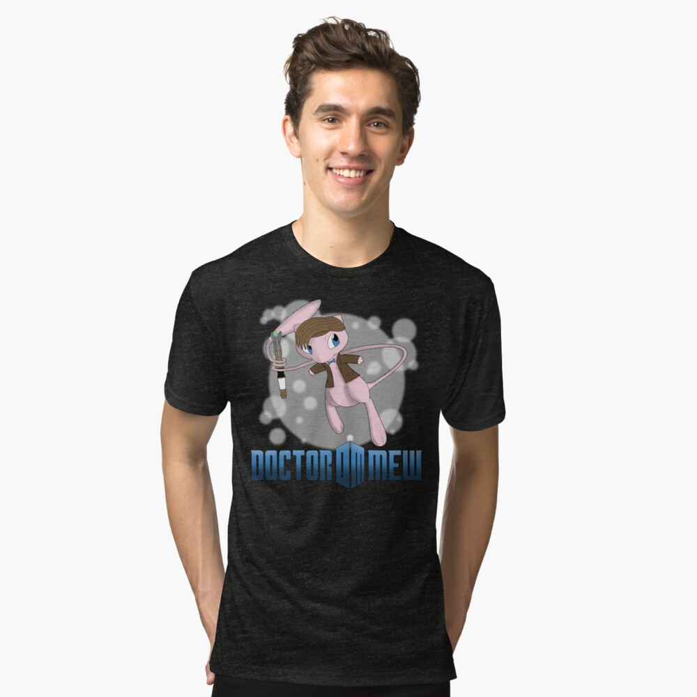 Doctor Mew Tri-blend T-Shirt Front